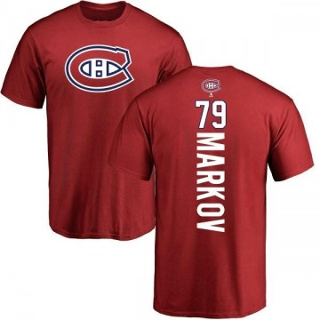 Men's Andrei Markov Montreal Canadiens Backer T-Shirt - Red