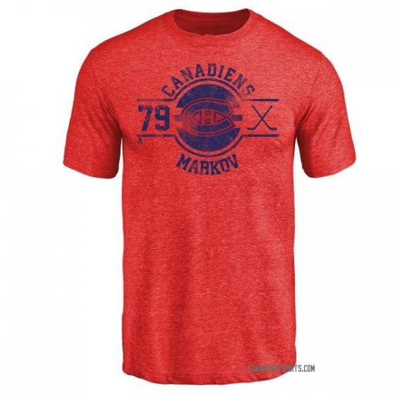 Men's Andrei Markov Montreal Canadiens Insignia Tri-Blend T-Shirt - Red