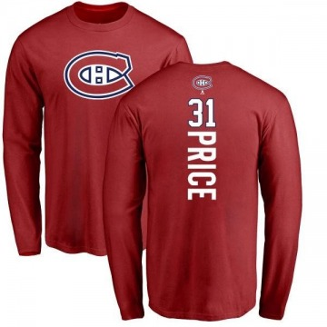 Men's Carey Price Montreal Canadiens Backer Long Sleeve T-Shirt - Red