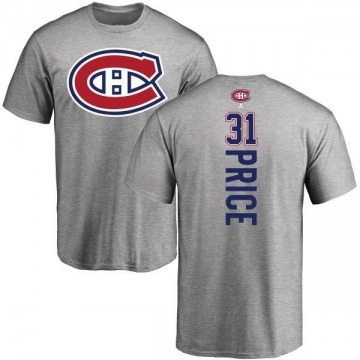 Men's Carey Price Montreal Canadiens Backer T-Shirt - Ash