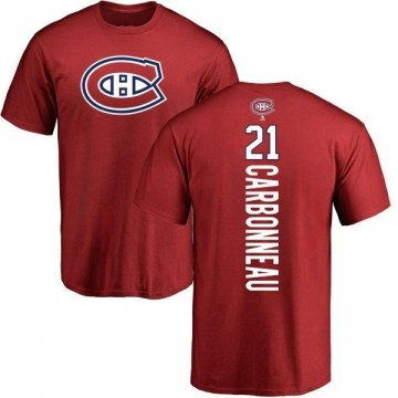 Men's Guy Carbonneau Montreal Canadiens Backer T-Shirt - Red