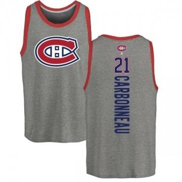 Men's Guy Carbonneau Montreal Canadiens Backer Tri-Blend Tank Top - Ash