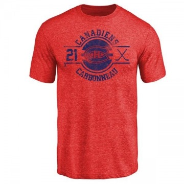 Men's Guy Carbonneau Montreal Canadiens Insignia Tri-Blend T-Shirt - Red
