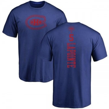 Men's Guy Lapointe Montreal Canadiens One Color Backer T-Shirt - Royal