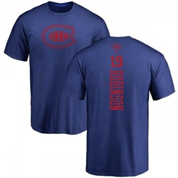 Men's Larry Robinson Montreal Canadiens One Color Backer T-Shirt - Royal