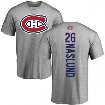 Men's Mats Naslund Montreal Canadiens Backer T-Shirt - Ash