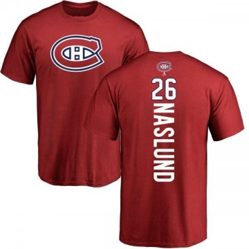 Men's Mats Naslund Montreal Canadiens Backer T-Shirt - Red