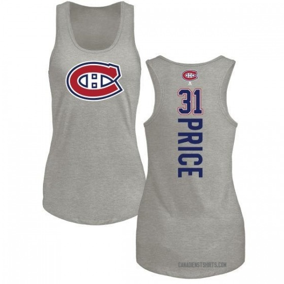 Women's Carey Price Montreal Canadiens Backer Tri-Blend Tank Top - Ash