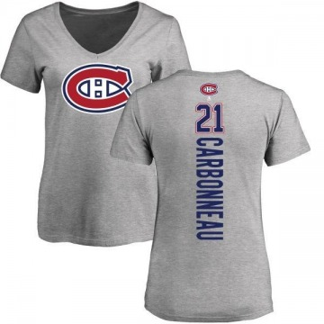 Women's Guy Carbonneau Montreal Canadiens Backer T-Shirt - Ash