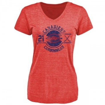 Women's Guy Carbonneau Montreal Canadiens Insignia Tri-Blend T-Shirt - Red