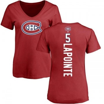 Women's Guy Lapointe Montreal Canadiens Backer T-Shirt - Red
