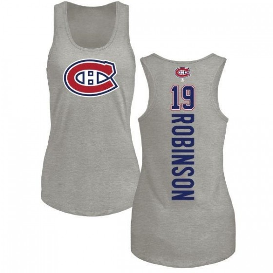 Women's Larry Robinson Montreal Canadiens Backer Tri-Blend Tank Top - Ash