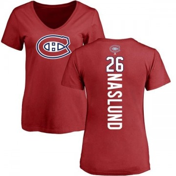 Women's Mats Naslund Montreal Canadiens Backer T-Shirt - Red