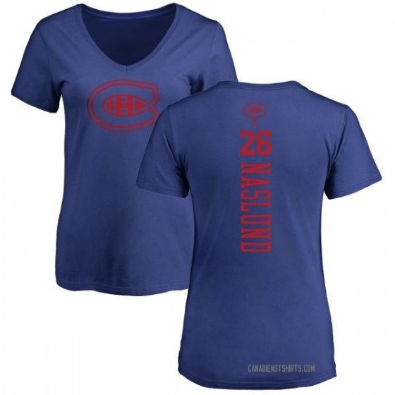 Women's Mats Naslund Montreal Canadiens One Color Backer T-Shirt - Royal