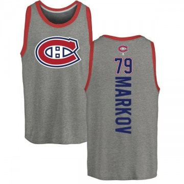Youth Andrei Markov Montreal Canadiens Backer Tri-Blend Tank Top - Ash