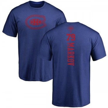 Youth Andrei Markov Montreal Canadiens One Color Backer T-Shirt - Royal