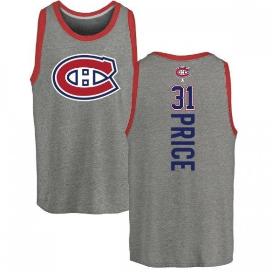 Youth Carey Price Montreal Canadiens Backer Tri-Blend Tank Top - Ash
