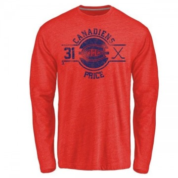 Youth Carey Price Montreal Canadiens Insignia Tri-Blend Long Sleeve T-Shirt - Red