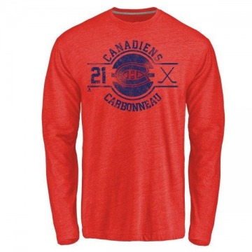 Youth Guy Carbonneau Montreal Canadiens Insignia Tri-Blend Long Sleeve T-Shirt - Red