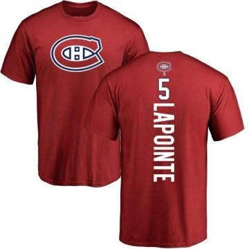 Youth Guy Lapointe Montreal Canadiens Backer T-Shirt - Red