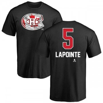 Youth Guy Lapointe Montreal Canadiens Name and Number Banner Wave T-Shirt - Black