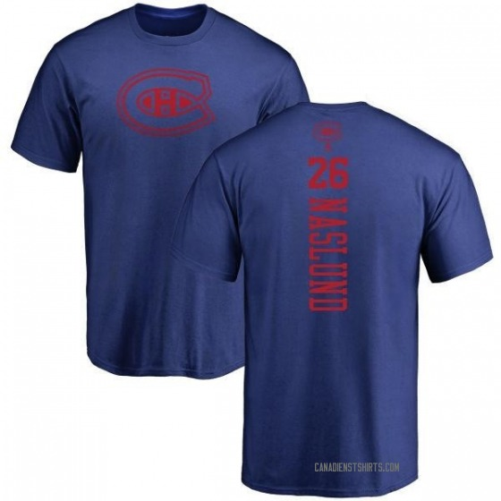 Youth Mats Naslund Montreal Canadiens One Color Backer T-Shirt - Royal